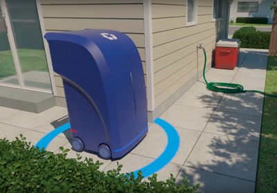 Self Driving Car Technology on a Trash Can!